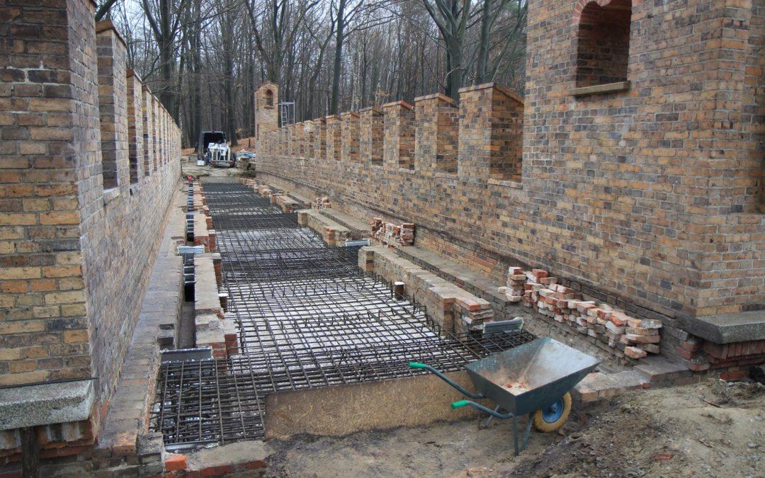 Denkmalpflegerische Instandsetzung des Viadukts – Zustand im Mai